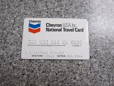 Vintage Gas Oil Credit Charge Card 1980'S CHEVRON OIL GREAT SHAPE PROP TRAVEL