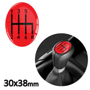 1 x GEAR KNOB SHIFT PATTERN LEVER STICKER 3D EMBLEM STICK BADGE 6 SPEED CAR S6
