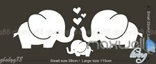 Elephant family Love heart Wall Sticker Decals Vinyl Nursery Decor Kids Mural