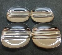 """4 New Better Homes And Gardens Bazaar Brown 8-3/4"""" Lunch Plate Dinner Ware TPH"""