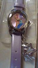 Tinker Bell  Watch W/ Dangle New In Case WDW