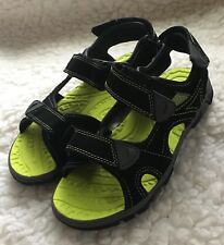 Khombu 'Luke' Boys Sport Sandals Youth sz 3 Black/Neon Green