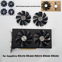 GPU Grafikkarten Fan Cooling Lüfter Für Sapphire RX470 RX480 RX570 RX580 RX590