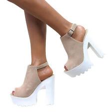 Block Heel Suede Formal Sandals & Flip Flops for Women