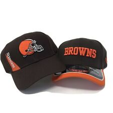 Nfl Licensed Cleveland Browns Team Apparel/New Era Baseball Caps Lot of 2 each