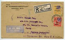 MALTA 1929.5.9 Scarce acceptance Imperial Airways new route to India / Australia