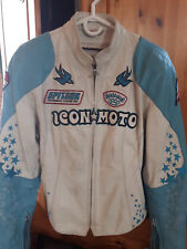 Icon Motorsports Women Medium Motorcycle Jacket and chaps with matching helmet