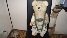 Alter Teddybär Dachbodenfund, voll beweglich,57cm evtl. Schuco Bär?sehr bespielt