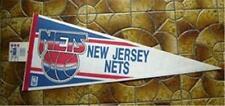 New Jersey Nets NBA Basketball Pennant Trench Mfg  w Cardboard