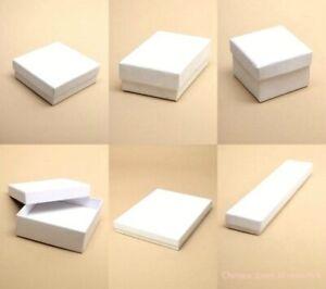 White Jewellery Gift Box Necklace Earring Bracelet Watch Wholesale/ Bulk Buy