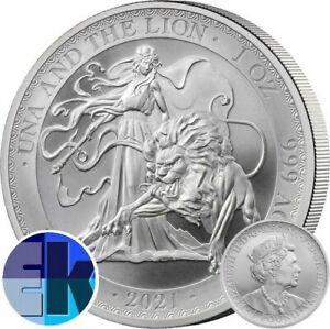 Ek // GBP 1 Ag 999% 1 oz St. Helene 2021 Una and the Lion