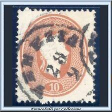 Italia ASI 1862 Lombardo Veneto 10 s. bruno mattone n. 34 Usato Antichi Stati