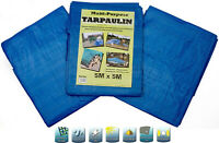 Outdoor Tarpaulin MAT Waterproof Sheets Cover Swimming Pool Up to 15FT 5x5m