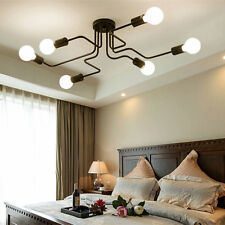 Black Flush Mount Ceiling Light Modern Pendant Light Kitchen Chandelier Lighting