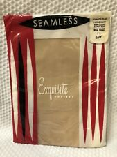 1950'S Exquisite Hosiery Nylons Stockings Hose Seamless Sz 9 Rose Glace
