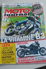 MOTO JOURNAL N°2010 KAWASAKI ZL 1400 ELIMINATOR 1700 VOYAGER VN 900 CUSTOM 2012