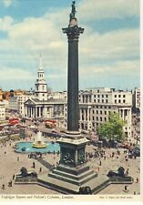 Old Postcard - Trafalgar Square and Nelson's Column London - Unposted M119