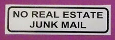NO REAL ESTATE JUNK MAIL  sticker for your letterbox