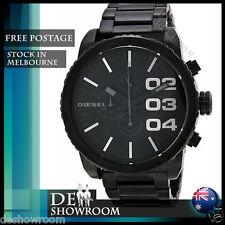 Diesel Chronograph Black Dial Black PVD Mens Watch DZ4207 - Free shipping