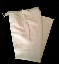 Leinenhose weiß/H&M/Damen/Größe 40 /NEU + Etikett/mit schmalem Gürtel/