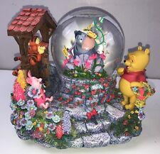 Disney Winnie The Pooh Eeyore Sankyo Snowglobe Musical Snow Globe 26732 Rare Big