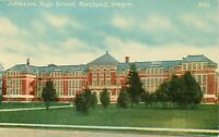 DB OR Postcard J288 Jefferson High School Portland Street View Trees Unposted