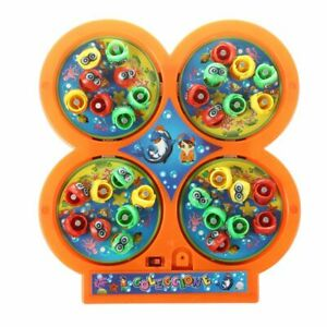 Random Color Go Fishing Game Electric Rotating Magnetic Magnet Fish Toy P9X5