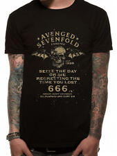 BNWT Avenged Sevenfold/A7X/AX7 Saisir le jour Noir T-shirt/top/métal Rock XXL/2XL