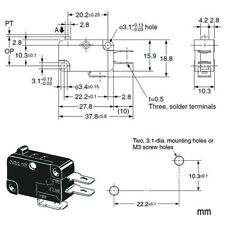 "10pcs Original Omron V-15G-1C25-M .187"" Micro-switch for Arcade Push Button"