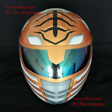 Custom Paint Motorcycle Helmet Superbike Bike Race DOT Power Ranger White CH50
