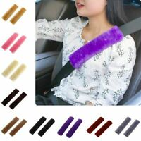 2Pc Shoulder Pad Car Seat Belt Comfortable Driving Soft Plush Seatbelt Strap