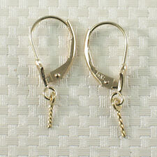 Pair of 14k Solid Yellow Gold Leverback Findings Good for Dangle Earrings DIY