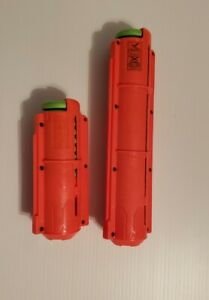 Nerf Vortex Clip Ammo orange Magazine Cartridge 20 & 10 disc capacity w/ 29 disc