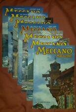 077 Seven Issues MECCANO MAGAZINE Jan-Jul 1948 Steam Trains Ships Motor Boats