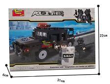 COSTRUZIONI MATTONCINI TIPO LEGO - PICK UP SWAT TEAM CON MITRAGLIATRICE - 254 PZ