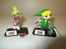 "The Legend of Zelda Phantom Hourglass 2"" Link & Tetra Mini Figure Nintendo TOMY"