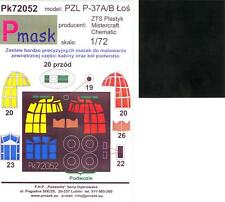Model Maker 1/72 PZL P-37A/B LOS Bomber Paint Mask Set