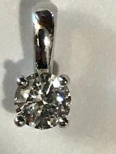 Diamond round cut 0.26ct set in 14kt. white gold pendant