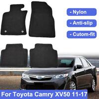 Car Floor Mats For Toyota Camry XV50 2011-2017 Custom Carpet Black Nylon 15 16
