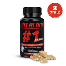Hot Blood Horny Goat Weed With Maca Roots Supplement Pills for Men Boost 60 Caps