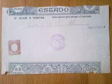A194-PAPEL SELLADO ENTEROS FISCALES PAGOS ESTADO 5 PTS