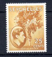 Seychelles KGVI 1938 25c brown ochre SG141 mint LHM WS11064