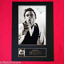 JOHNNY CASH Signed Reproduction Autograph Mounted Photo Print A4 85