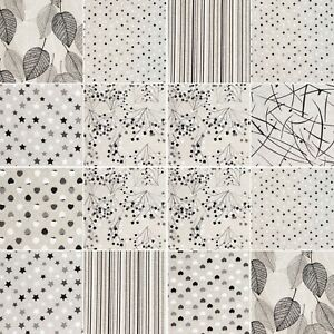Luxury Cotton Rich, Glittering Sparkle Printed Linen 140cm wide per Metre