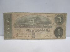 1864 US $5 CONFEDERATE STATES NOTE