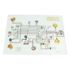 Schaltplan pas für Simson S51 S50 S70 Elektronik Zündung Kabelplan A3 KultMopeds
