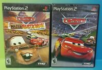 Disney Cars + Mater-National Champ -PS2 Playstation 2 Game Lot Tested Complete