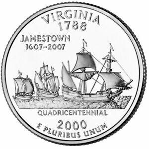 2000 D - Virginia - State Quarter