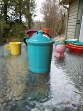 fiestaware FIESTA WARE SMALL CANISTER LID turquoise blue NEW