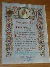 ancien IMAGE PIEUSE vatican VATICANO pape Paul VI Missioni Africane HOLY CARD st